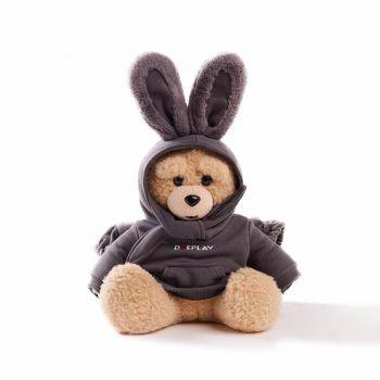 香港GOC IN C联名DUEPLAY兔子熊热水袋 灰色