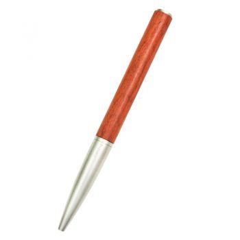笔下钢木签字笔-花梨木印迹圆