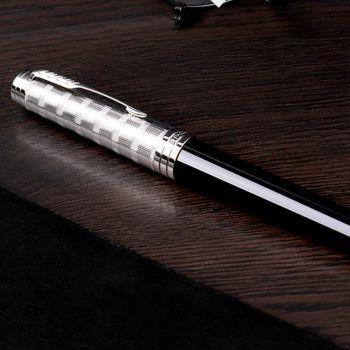 派克(PARKER)新款首席系列 - 时尚丽雅黑色白夹钢笔