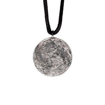 AstroReality 月球纪念吊坠项链 纯银月亮项链