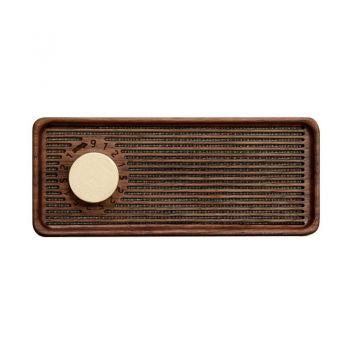 良白 音乐盒物理扩音器 八音盒黑胡桃木
