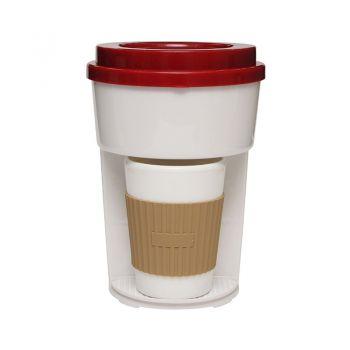 香港Me Too!简约单杯自动滴滤式咖啡机 红色